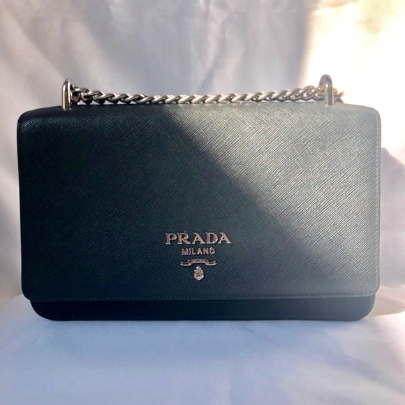 86b390cd187245 Prada Bags | Authentic Saffiano Leather Chain Crossbody | Poshmark